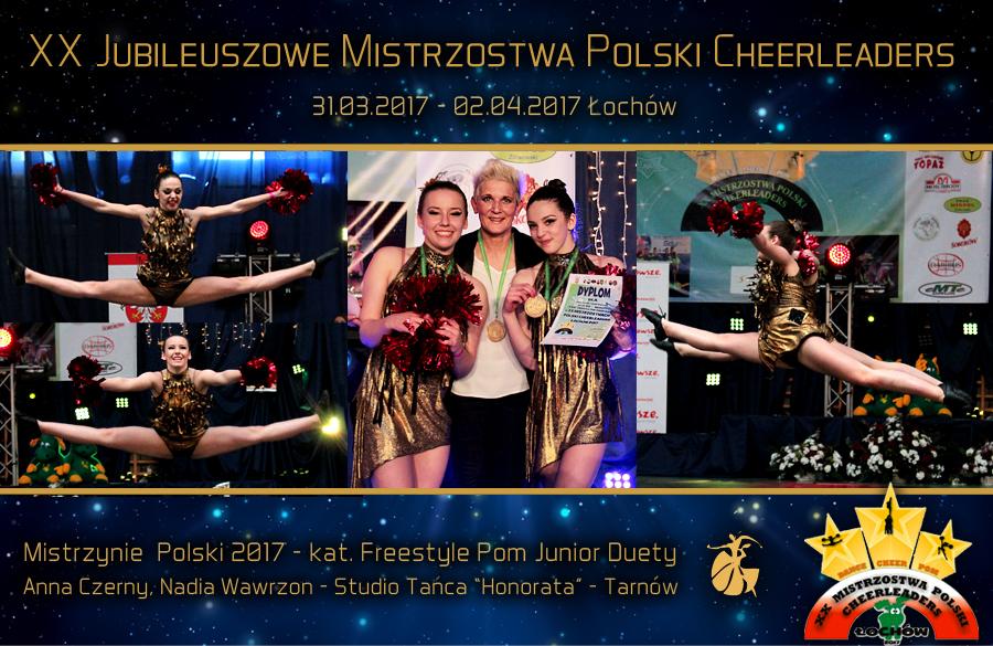 Anna-Czerny-i-Nadia-Wawrzon-duet-freestyle-pom-junior-Studio-Tanca-Honorata-Tarnow-XX-Mistrzostwa-Polski-Cheerleaders-2017