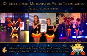 XX-Mistrzostwa Polski Cheerleaders 2017 Łochów Studio Tańca Honorata Tarnów Mistrzynie Polski