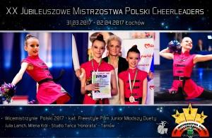 wicemistrzynie-polski-freestyle-cheerleaders-julia-lamch-milena-król-studio-tańca-honorata-Tarnów