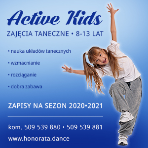 Active Kids - nauka tańca dla dzieci wwieku 8-13 lat.